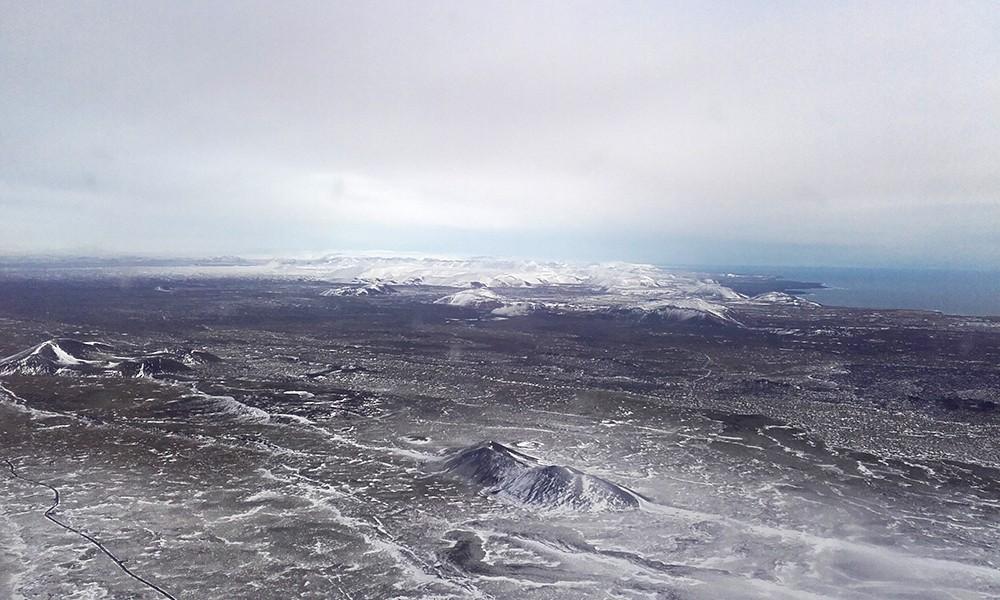 Islande vue d'avion